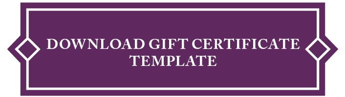 HCTO Gift Certificate Template